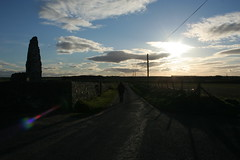Rattray road (Fiddlelass) Tags: church clouds shadows ruin bluesky lensflare buchan kirk biotron rattray oldkirkofrattray stunningday