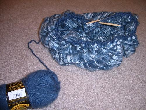 blue pinwheel blanket