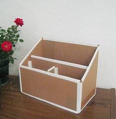 cardboard mail organizer (misslilamae) Tags: green recycled handmade cardboard crafty recycle recycling organization repurposed mailorganizer