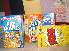 mini cereal boxes