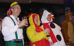 Christmas Characters (Malcolm Bull) Tags: 20161208party0075edited1web raoul scott chris matt include fancy dress