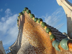 Casa Batll roof (Rachel Says Hi) Tags: barcelona casabatllo casabatll