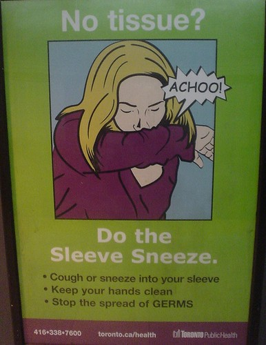 Sleeve sneeze poster