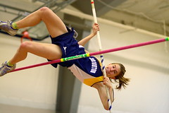 Pole vaulter (J. Forger's FlickPics) Tags: girls sports canon track action 85mm indoor highschool polevault trackandfield indoorsports indoortrack highschoolsports canon30d girlssports allrightsreserved flickpics