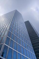 highlight (myfear) Tags: blue sky urban building glass architecture clouds skyscraper munich perspective