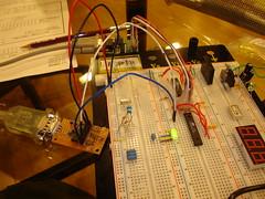 ATmega168 USART,LED