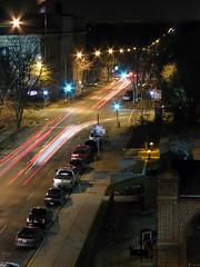 East Johnson (Mazda6 (Tor)) Tags: street wisconsin night dark ramp long exposure shot traffic streetlights parking johnson east madison streaks madison365 multiplenightshots