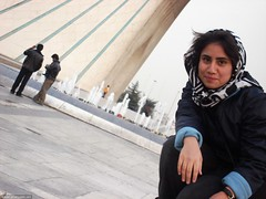 Bahar infront of the Azadi monument