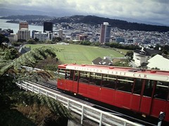 Cable car to the Botanic Garden in Wellington