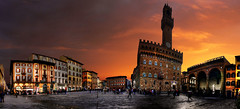 Firenze, Piazza del la Signoria (Batistini Gaston) Tags: sky italy panorama beautiful manipulated perfect post picture panoramic tuscany firenze photoshoped hdr skyplay batistini perfectpanoramas