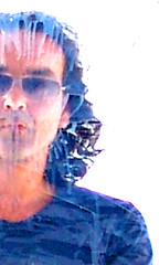 Dirty Mirror (Nicote) Tags: man male me face self hotel mirror acrylic autoportrait ikaria dirty grease edward greece camouflage nico acryl dimitri pension theisland kienholz tulla edwardkienholz nicote kienholzlike acryllike