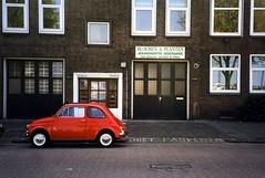 fiat 500 in Rotterdam Street (daviddb) Tags: rotterdam fiat 500 fcar