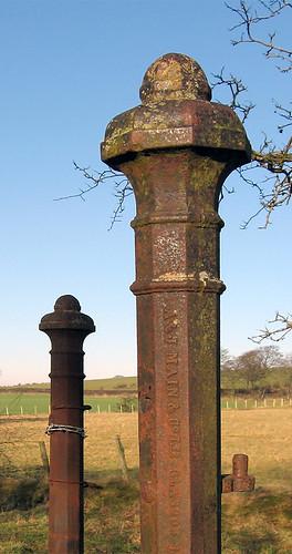 Cast Iron Gateposts, Near Skelton, Cumberland