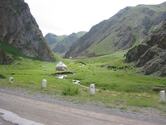 Yurts in a Valley