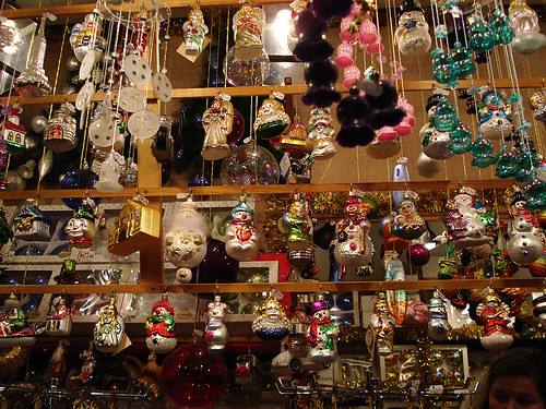 Nurenberg Christmas market - glass Christmas ornaments