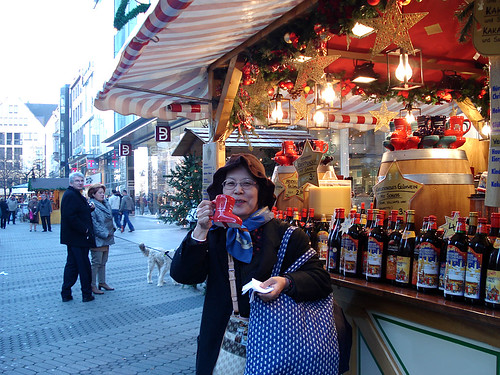 Nurenberg Christmas market - enjoying a Glühwein