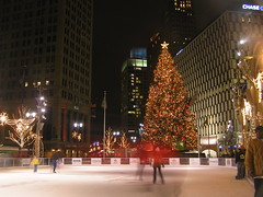Skating In The Big City (SNWEB.ORG Photography, LLC.) Tags: park christmas city nightphotography winter urban holiday cold color colors night mi dark campus season lights downtown december nightshot michigan iceskating skating detroit campusmartiuspark 2006 christmastree dec rink mich woodward campusmartius ie martius bigcity skatingrink detroitmichigan downtowndetroit woodwardavenue detroitmi december2006 48226 vidid zip48226 zipcode48228