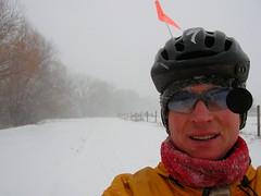 Bike commuting in a blizzard