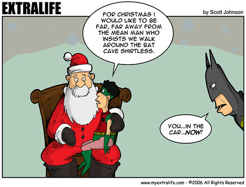 santa, robin and batman