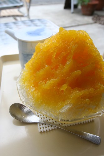 orange shaved ice