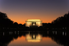 Lincoln Memorial, Washington D.C. (ehpien) Tags: sunset monument night washingtondc dc memorial reflectingpool nationalparkservice abw impressedbeauty washingtonabrahamlincoln