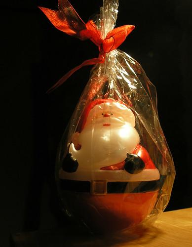 Santa in a sack