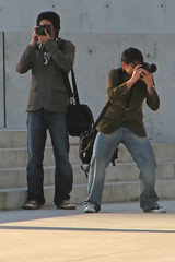 Have Camera, will action.. (JosephRPalmer Photography) Tags: people chicago photography posing 2006 milleniumpark