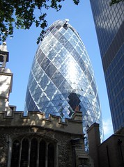 The Gherkin - 30 St Mary Axe London (.Martin.) Tags: city uk greatbritain england building london glass st 30 skyline architecture skyscraper buildings office architechture europe erotic unitedkingdom britain mary thecity norman foster normanfoster marys axe trips gherkin eroticgherkin 30stmaryaxe londonopenhouse daytrip thegherkin morden cityoflondon swissretower stmaryaxe swissrebuilding squaremile fosterpartners fosterandpartners martinpearce