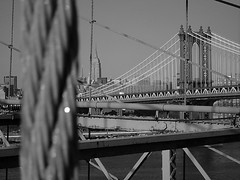 bridges (hanna.bi) Tags: nyc bridge newyork lines brooklyn blackwhite manhattan hannabi