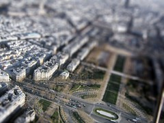 Paris February 2004 02 (Littlepixel) Tags: paris photoshop miniature fake mini eiffel fts tiltshift toytown lensblur railwaylayout