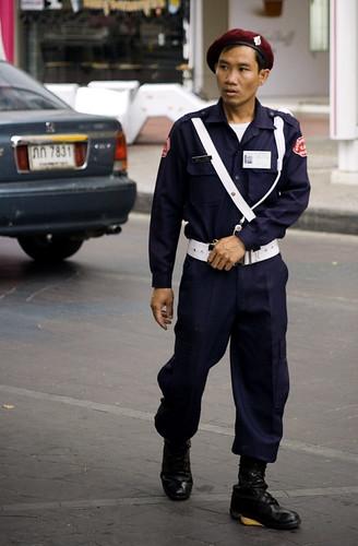 Guardia de Seguridad en Bangkok