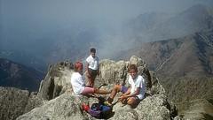 Vues du sommet avec les fumées des incendies