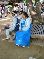 2005.08.14 - Blue Hanbok (Korean traditional dress) at the Korean Folk Village