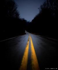 (sahst23) Tags: road nikon nikond70 allrightsreserved roadway yellowline centerline 2006stephenahall gulmidtstripe roadtripwithrachelkirsten nearbarronville thisphotoneedsanakedwomansittingonthatline notmytagbutiapplaudtheidea