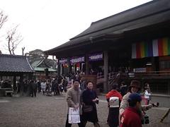 法華経寺にて