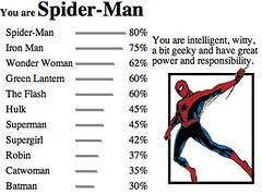 I knew I'd be spiderman.