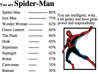 I knew I'd be spiderman.