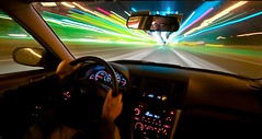 through the tollbooth.... again (Ben McLeod) Tags: longexposure me car lights neon driving dashboard steeringwheel tollbooth sigma1224mmf4556dg