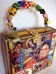 Mexicana Recycled Box Bag (lorimarsha) Tags: color art fashion diy clothing rainbow recycled ooak lori accessories bags handbags etsy purses mente inspiracion oneoff energia deconstructed reciclar lms crear accesorios allcolors fullspectrum redesigned nuevasideas lorimarsha refindgoods