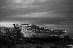 The ghostship (Rn) Tags: sea blackandwhite bw black stone iceland ship stones ghost loveit explore shore ran sland sjr 2007 ghostship flatey rn magnsdttir mywinner anawesomeshot rnmagnsdttir ranmagnusdottir ranm draugaskipi
