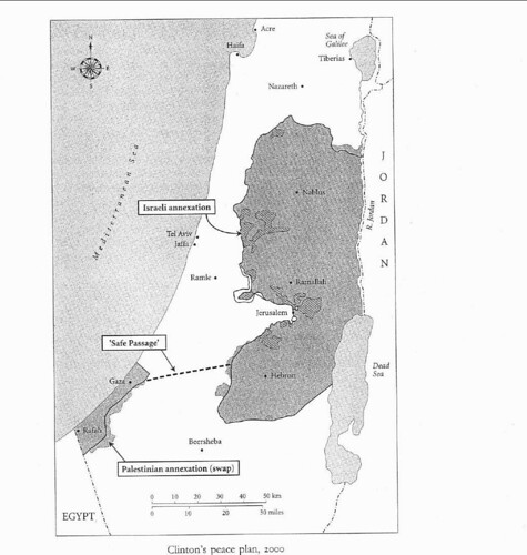 Cllinton Peace Plan Map - Ben-Ami