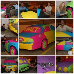 Working on the Post-It Note Jaguar (Scott Ableman) Tags: topf25 car fdsflickrtoys automobile funny colorful parkinggarage sticky postit topv5555 prank dcist blogged jaguar psychedelic topv9999 topv11111 topv3333 postitnotes 3m jokers asseenontv stickynotes postitnote topv8888 topv6666 topv7777 officeprank stype jokesters practicaljokers practicaljoker twtmesh160842