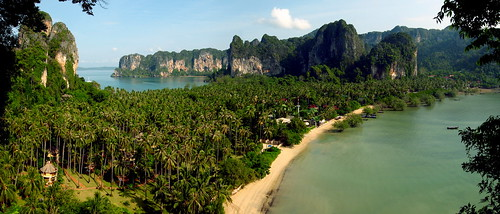 Panorama Railay seen from the Lookout