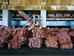 Copper cathode (mm-j) Tags: africa archive 1999 mining copper zambia contaxt2 copperbelt scanfromprints