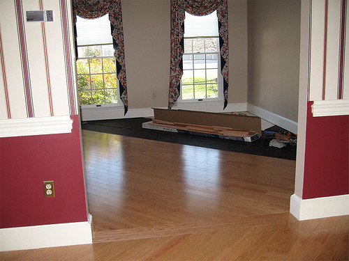 New Floors in Our Living & Dining Rooms - In Process