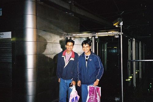 Anand Binani Ram Venkat at Montmartre near the cable car where we were caught by police