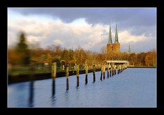 Dom Lbeck (Christoffer Greiss) Tags: tower lensbaby river germany deutschland dom towers pole 3g dome poles luebeck lbeck lensbabies lubeck