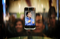 angry Bill Gates on little iPhone