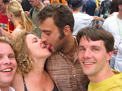 The kiss (MastaBaba) Tags: portrait berlin tongue germany kiss loveparade 20020715 noteongermany bf:blogitem=444