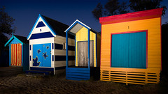 Beachboxes (Jon Thornton) Tags: architecture night nikon d2x sb600 australia speedlight cls sb800 strobist jonthornton
